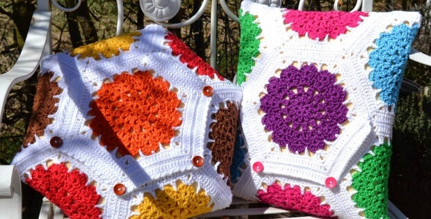 crochet hexagon cushions | the crochet space