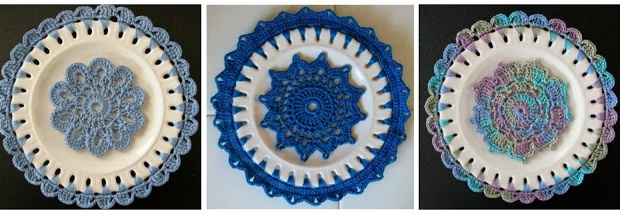 crochet embellished plates | the crochet space