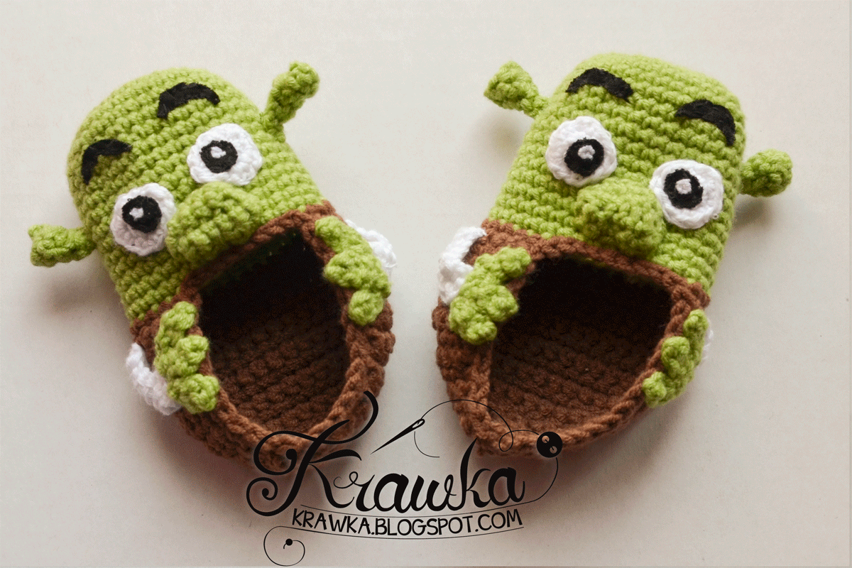 Crochet Shrek Baby Booties Free Crochet Pattern The Crochet Space