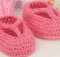 crochet t-strap booties | the crochet space