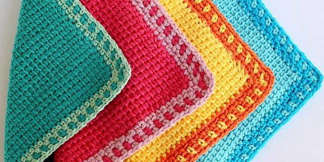 Tunisian crochet washcloths | the crochet space