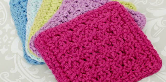Tunisian crochet coaster set | the crochet space