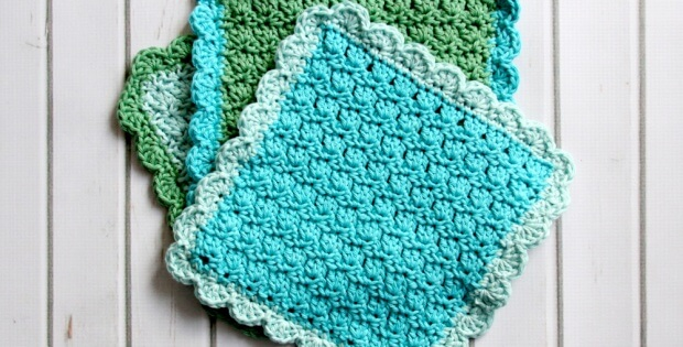 Crochet Primrose Dishcloths Free Crochet Pattern