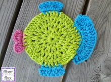 crochet fish dishcloth | the crochet space
