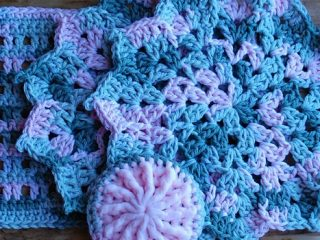 crochet pretty petals dishcloth | the crochet space