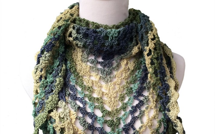 crochet calypso shawlette | the crochet space