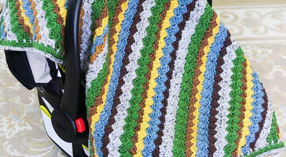 crochet car seat canopy | the crochet space