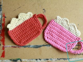 crocheted cocoa coasters | the crochet space
