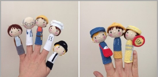 Crochet Finger Puppets Great For Making Stories Come To Life Free