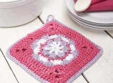 crochet flower pot holder | the crochet space