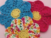 crochet flower dishcloths | the crochet space