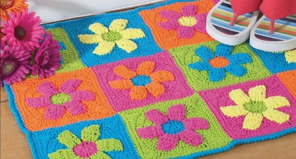 crochet flower power rug | the crochet space