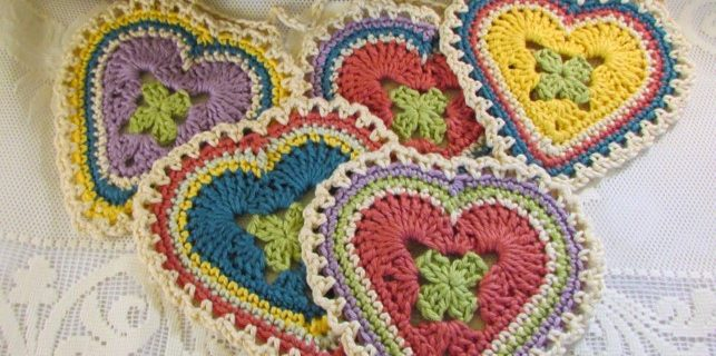 crochet granny sweet hearts | the crochet space