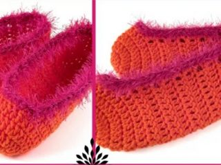 crochet one-hour slippers | the crochet space