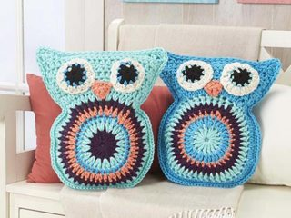 crochet owl pillow pals | the crochet space