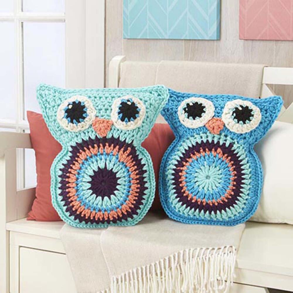 Free Crochet Owl Cushion Pillow Pattern : Crochet Owl Pillow Pals [FREE Crochet Pattern]