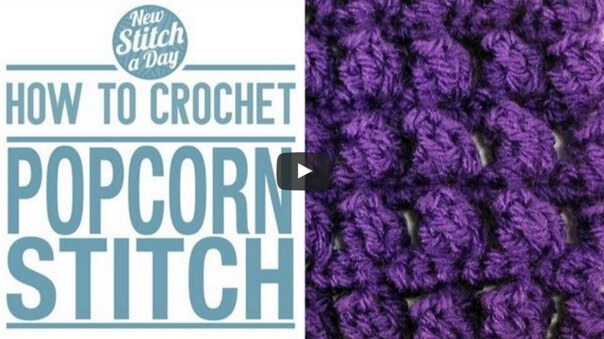 crochet popcorn stitch | the crochet space