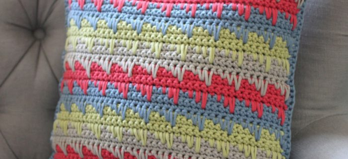 crochet spike stitch pillow | the crochet space