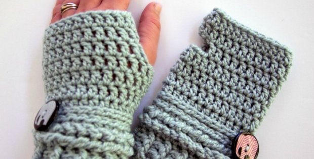 Crocheted Fingerless Gloves Free Crochet Pattern