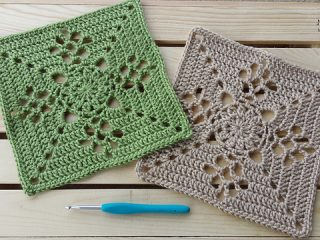 crochet Victorian lattice square | the crochet space