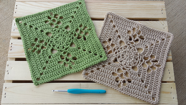 Crochet Victorian Lattice Square Free Crochet Pattern