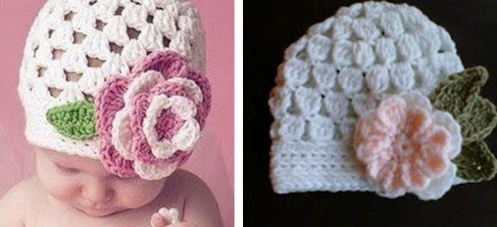 cute baby beanie with flower   the crochet space