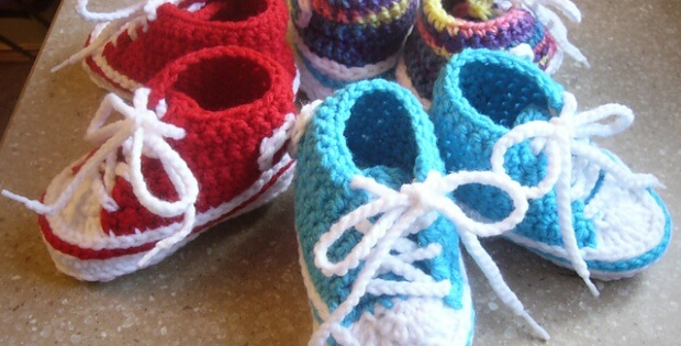 Crochet Baby Converse Free Crochet Pattern Photo Tutorial
