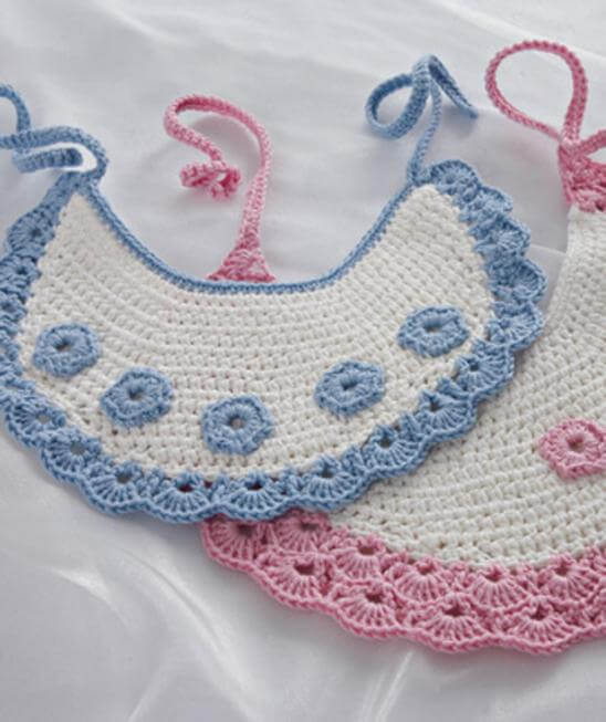 crochet baby bibs | the crochet space