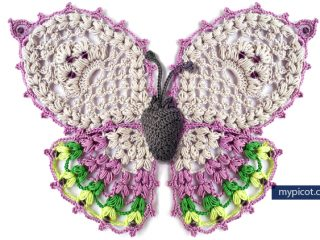 stunning crocheted butterfly applique   the crochet space