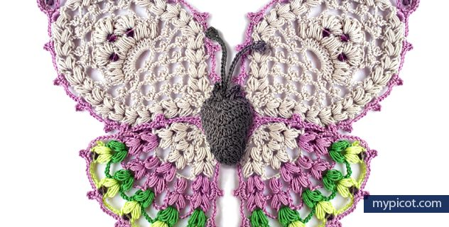 stunning crocheted butterfly applique | the crochet space
