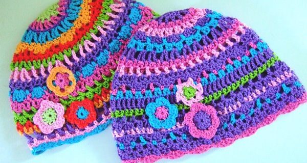 crocheted colorful kids hats | the crochet space