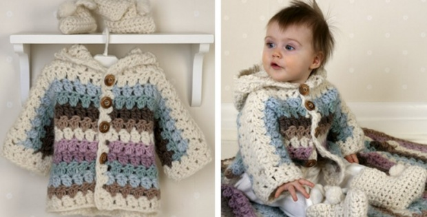 crochet cozy baby set | the crochet space