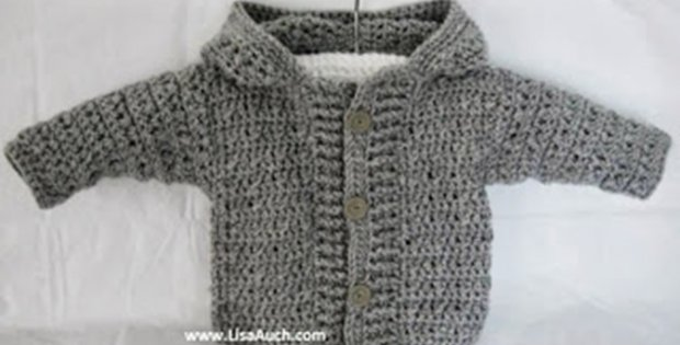 Easy Hooded Crocheted Cardigan Free Pattern