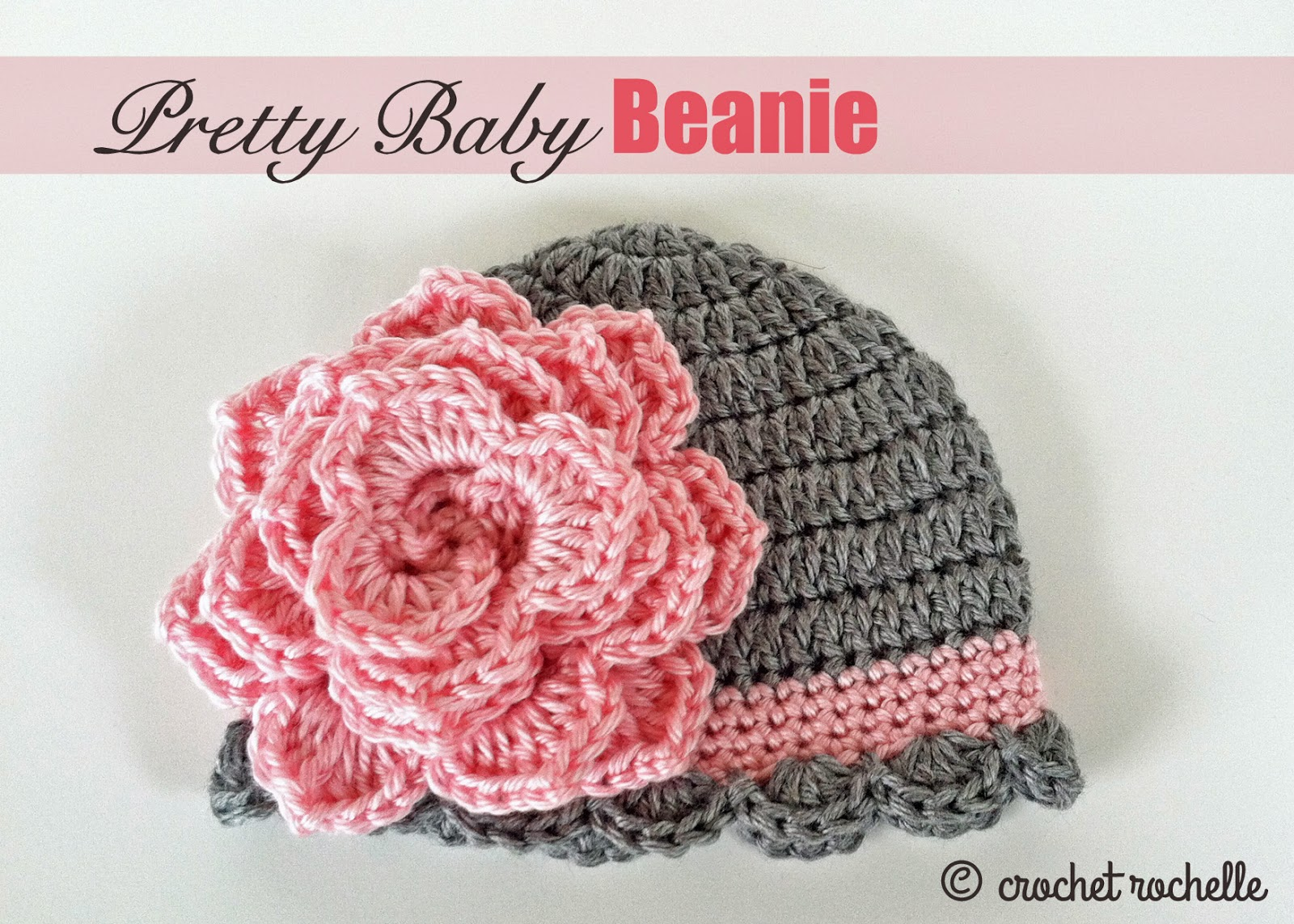 Crocheted Pretty Baby Beanie [FREE Crochet Pattern]