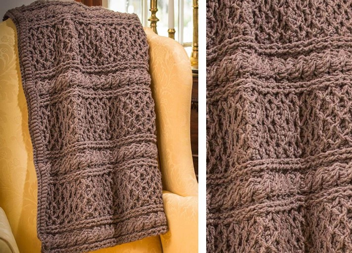crochet Downton Abbey afghan | the crochet space