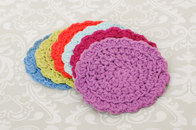 Easy Crocheted Summer Coaster Set Free Pattern
