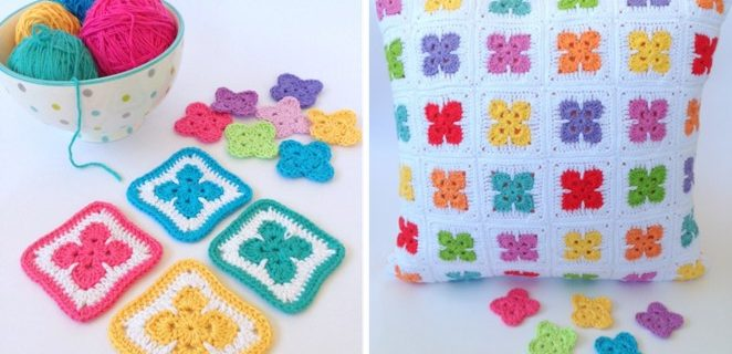 colorful crochet flower afghan blocks | the crochet space
