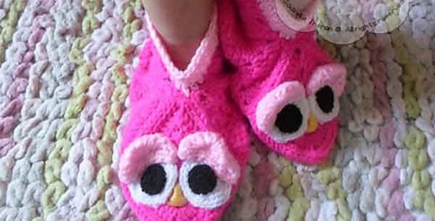 cute crocheted granny birdie slippers | the crochet space