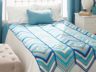 crocheted radiant stripe granny throw | the crochet space