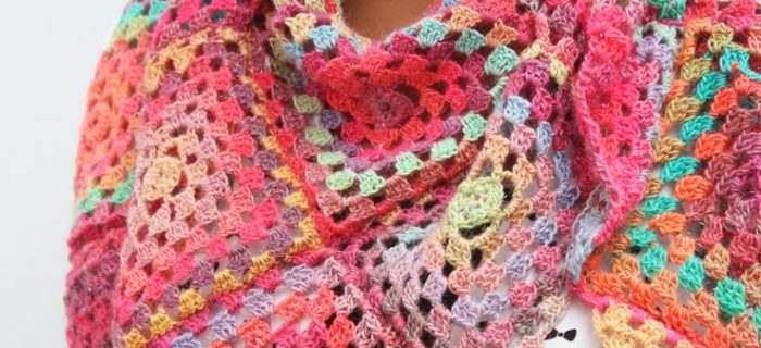 crochet granny square summer scarf | the crochet space