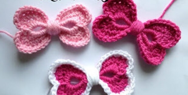 Crochet Hearts Hair Bow [FREE Crochet Pattern] Beauteous Hair Crochet Patterns