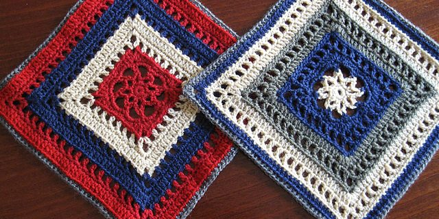 beautiful crocheted Manny Ann Square | the crochet space