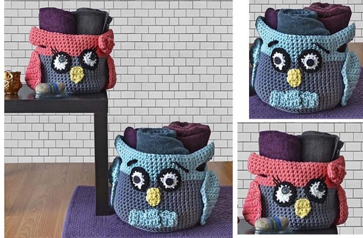 crochet owl baskets | the crochet space