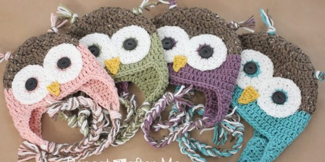 crochet owl hat with flaps | the crochet space