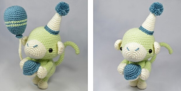 crochet party monkey | the crochet space