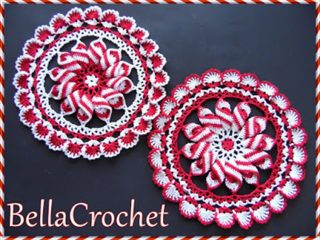 crochet peppermint pinwheel doily | the crochet space