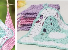 crochet spring butterflies washcloth | the crochet space