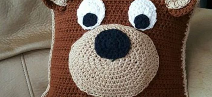 crochet teddy bear pillow | the knitting space