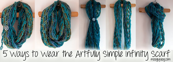 artfully simple crocheted infinity scarf | the crochet space