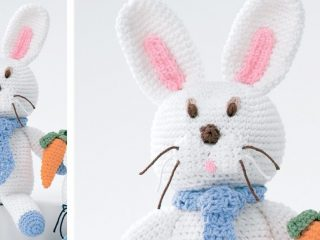 crocheted baby bunny soft toy | the crochet space